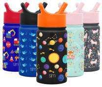 Simple Modern 14oz Summit Kids Water Bottle Thermos with Straw Lid - Dishwasher Safe Vacuum Insulated Double Wall Tumbler Travel Cup 18/8 Stainless Steel -Solar System