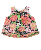 RuffleButts Baby/Toddler Girls Open Back Swing Tank Top with Bow