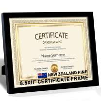 """Beyond Your Thoughts Wood + Real Glass (Hang/Stand) Certificate 8.5""""X11"""" Black Picture Photo Frame for Wall and Table Top Horizontal and Vertical(1 Pack)"""