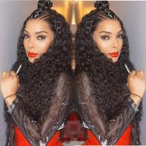 Water Wave Curly Lace Front Wigs Human Hair Wigs 100% Real Brazilian Virgin Hair Wigs For Black Women 10inch