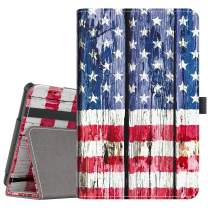 VORI Folio Case for All-New Fire HD 10 (9th Gen 2019 and 7th Gen 2017 Release), Smart Cover Slim Folding Stand Case with Auto Wake/Sleep and Hand Strap for Amazon Fire HD 10.1 Inch, USA Flag