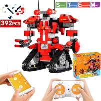 ritastar APP Remote Control Robot Building Blocks Creative Toolbox Educational Smart Tracked RC Robotics Building Bricks Set Kit S.T.E.M Learning Toy Gift for Boys Girls Kids 6 and Above(Red,392pcs)