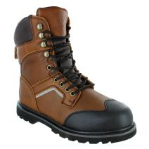 "Rugged Blue 8"" Jackson Soft Toe Work Boots - Brown"