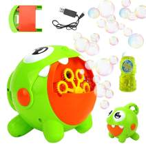 Bubble Machine, Bubble Toy for Kids Automatic Bubble Machine 3000 Bubbles Per Minute, Durable Bubble Blower for Kids, Party, Wedding, Outdoor Indoor Games, Built-in Rechargeable Battery Bubble Toy