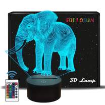 Elephant Gifts, 3D Night Light for Kids 16 Colors Changing 3D Illusion lamp with Remote Control & Smart Touch, Child Xmas Birthday Gifts for Boys Age 2 3 4 5 6+ Year Old