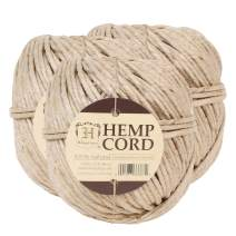 Hemptique Natural Hemp Twine #170 – Made with Love - Eco Friendly - Gardening - Macrame – Home Décor – Plant Hanger - Great for Jewelry Making, Crafts & More – #170~3mm (3 Pack)