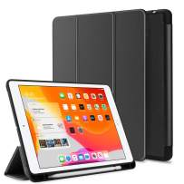 Venoro iPad 10.2 Case, iPad 7th Generation Case, Slim Multiple Viewing Angles Folding Stand, Pencil Holder and Smart Auto Sleep/Wake for iPad 10.2/A2200/A2197/A2198 (Black)