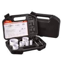 "KATA 9 Piece Bi-Metal Hole Saw Kit 3/4""-2-1/4""(19-57mm) Full set with Case For Metal, Wood, Aluminum & PVC Board"