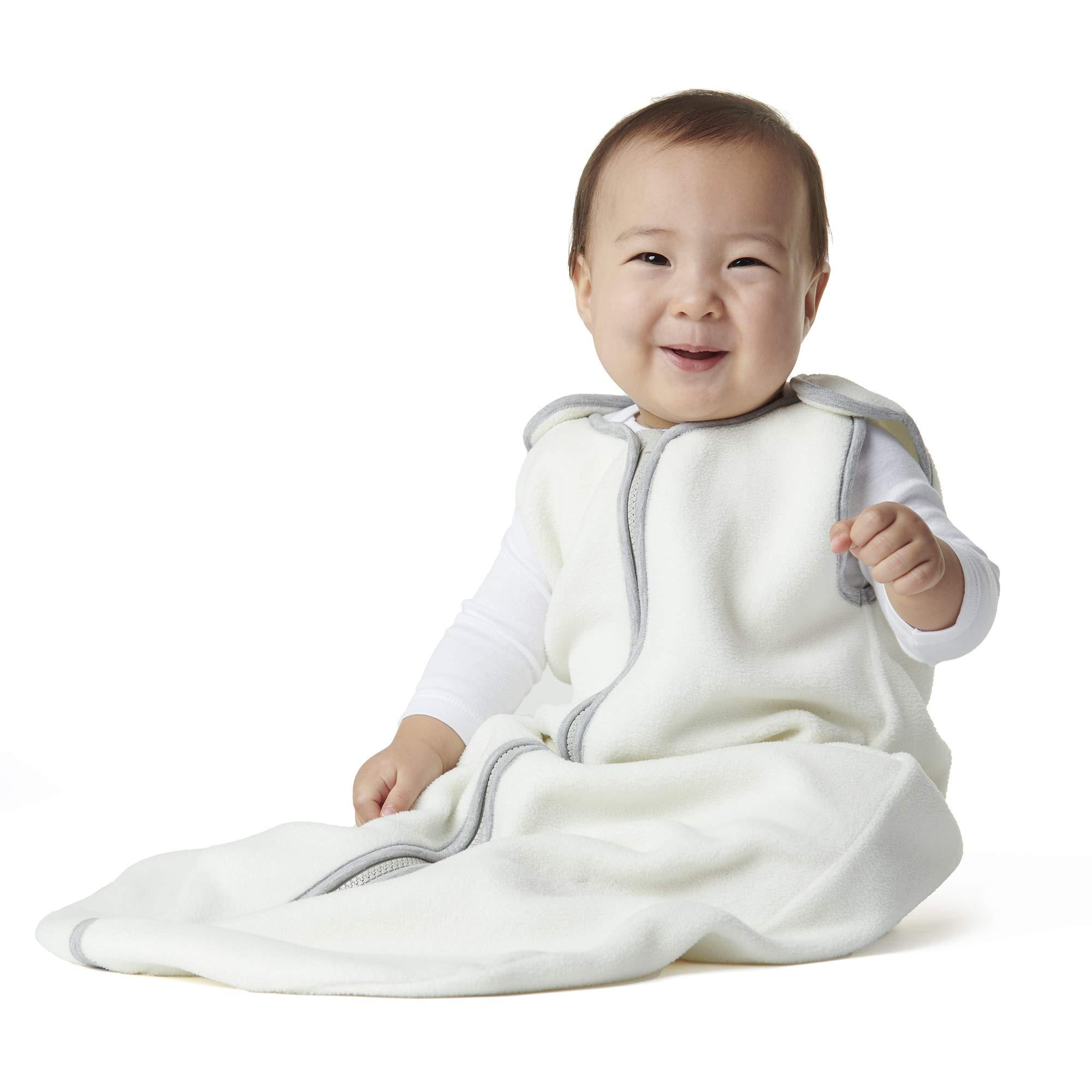 baby deedee Sleep Nest Fleece Baby Sleeping Bag, Ivory, 0-6 Month