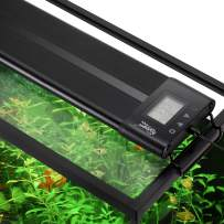 hygger Auto On Off LED Aquarium Light Extendable 12-55 Inches Dimmable 7 Colors Full Spectrum Light Fixture for Freshwater Planted Tank Build in Timer Sunrise Sunset