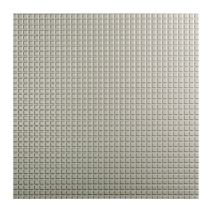 FASÄDE - Easy Installation Square Argent Silver Lay in Ceiling Tile/Ceiling Panel (2' x 2' Tile)
