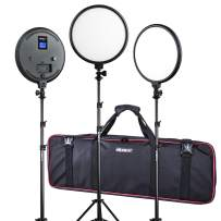(3 Pack) VILTROX Studio Light kit, 10-Inch Bi-Color 2000LM LED Studio Round Light with Stand, for Child Photography,Portrait and Video Shoot Studio Photography