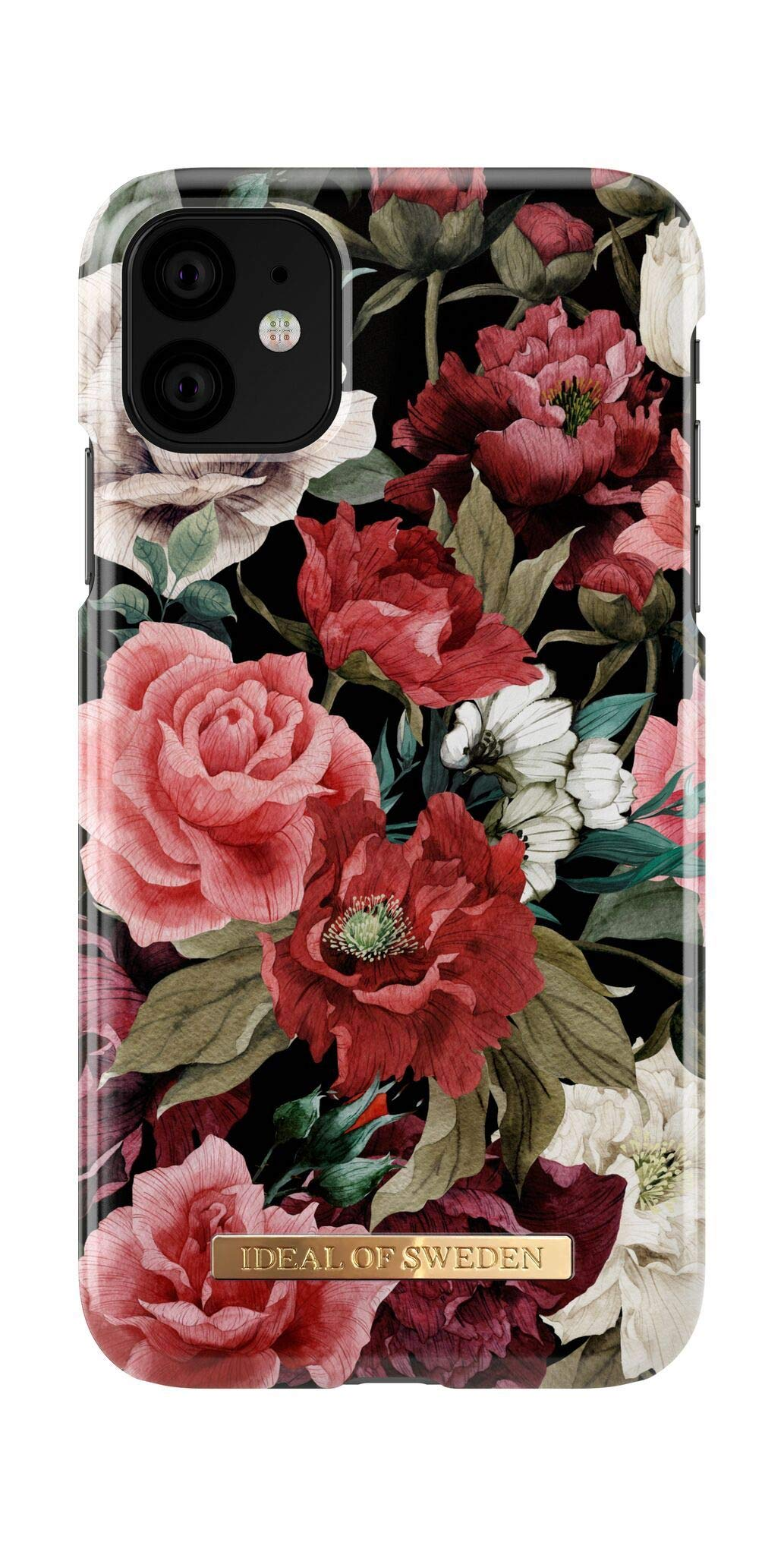 iDeal Of Sweden Mobile Phone Case for iPhone 11 (Microfiber Lining, Qi Wireless Charger Compatible) (Antique Roses)