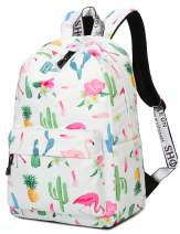 Cute Pineapple Flamingo Backpack Water Resistant Laptop Backpack Bookbags School Bags Travel Daypack by VOLINER