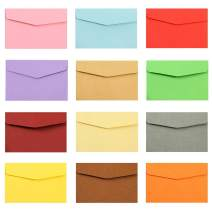 AxeSickle 60Pcs Mini Colored Envelopes 4.7 x 3.2 inch Small Colored Envelopes for Gift Card Wedding,Birthday Party Supplies.