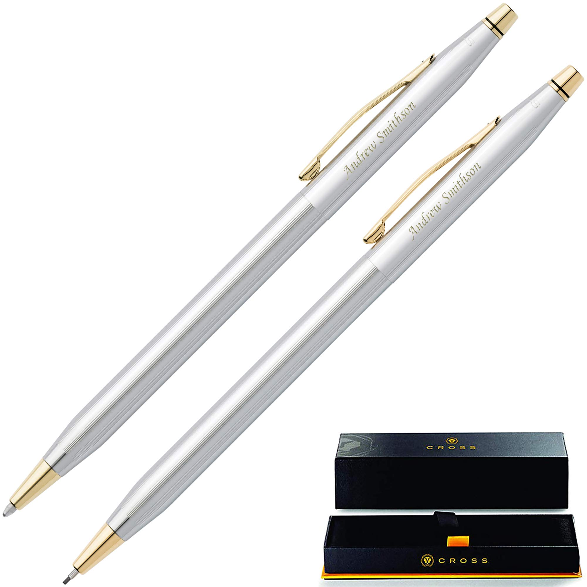 Engraved Cross Pen Set   Personalized Cross Classic Century Medalist Pen & Pencil Set 330105. Custom Engraved With Name or Message By Dayspring Pens.