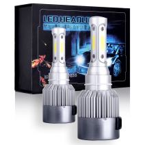 ECCPP 9003/H4 LED Headlight Bulb Hi/Lo Beam White Fog Lights Conversion Kit - 80W 6000K 10400Lm - 3 Year Warranty(Pack of 2)