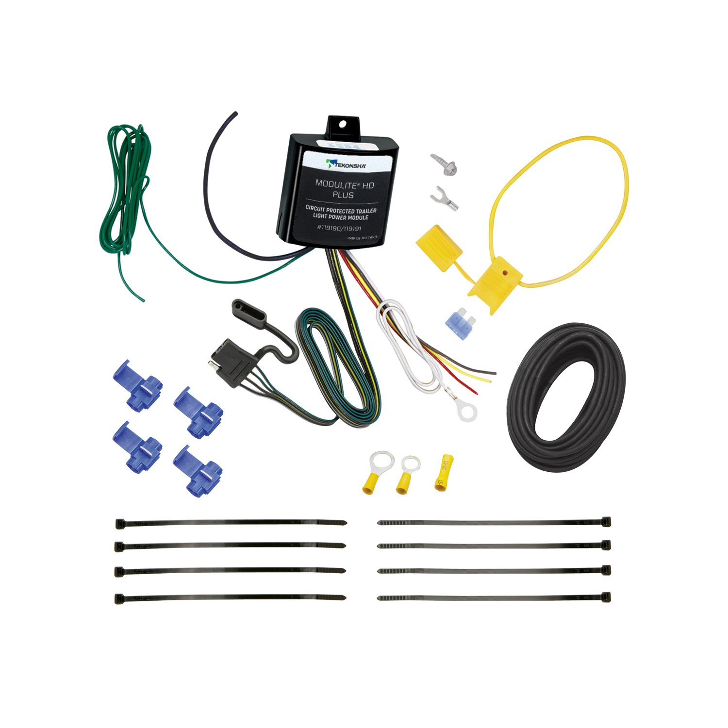 Tekonsha 119191 ModuLite HD Plus Protector with Integrated Circuit and Overload Protection Trailer Light Power Module Kit