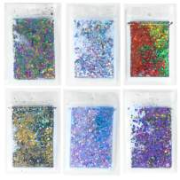 Holographic Body Glitter All 6 Colors 10g Bag by Powder and Chic (Holiday)