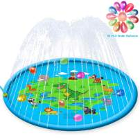 """INMUA Sprinkler for Kids, Splash Pad, 68"""" Toddlers Splash Play Mat Baby Wading Pool for Learning, Summer Outdoor Inflatable Water Toy Sprinkler Pool for Boys and Girls"""