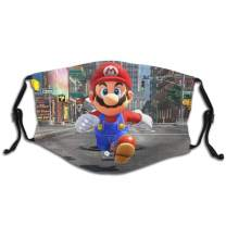 Super-Mario-Odyssey Special Design Reusable Masks With Filters For Boys And Girls Adjustable Ear Loop Comfortableface Masks Protection Against For Dust Exhaust Cold Smog