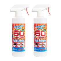 Amazing 60 Second Stain Remover - Commercial Strength - Powerful, Natural Enzymes Remove Food, Grease, Pet Stains & More - Non-Toxic/Eco Friendly - USA Made (16oz Spray Bottle 2-Pack -Save 25%)