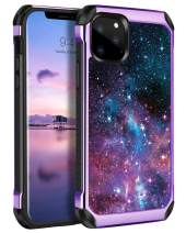 """DOMAVER iPhone 11 Pro Case, iPhone 11 Pro Phone Cases, Dual Layer Heavy Duty Shockproof Soft TPU Bumper Hard PC Cover with Purple Nebula Stars Protective Phone Case for iPhone 5.8"""" (2019 Release)"""