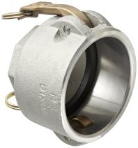 "Dixon 3020-D-AL Aluminum Type D Cam and Groove Reducing Hose Fitting, 3"" Socket x 2"" NPT Female"