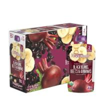 Happy Baby Organic Clearly Crafted Stage 2 Baby Food Black Bean, Beets & Bananas, 4 Ounce Pouch (Pack of 16)