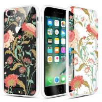 Caka iPhone 6 Case, iPhone 6s Clear Floral Case Flower Pattern Vine Floral Series Slim Girly Anti Scratch Excellent Grip Premium Clarity TPU Crystal Case for iPhone 6 6s 4.7 inch (Sunflower Vine)