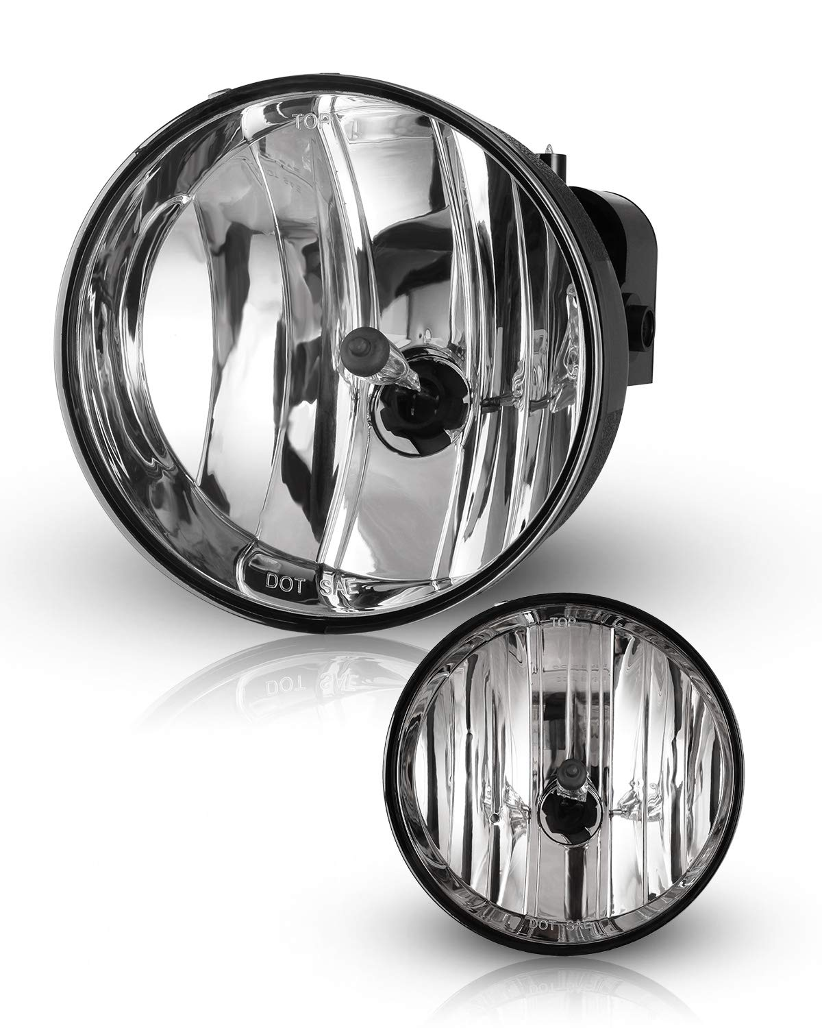 Fog Lights For 2002-2009 GMC Envoy OEM Replacement Fog Lamps 2PCS With Clear Lens AUTOWIKI
