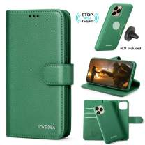 """JOYSIDEA 2-in-1 iPhone 11 Pro Wallet Case Magnetic Detachable, Premium Slim Vegan Leather Flip Folio Case with Card Holder, RFID Protection & Kickstand, Fit Car Mount for iPhone 11 Pro 5.8"""", Green"""