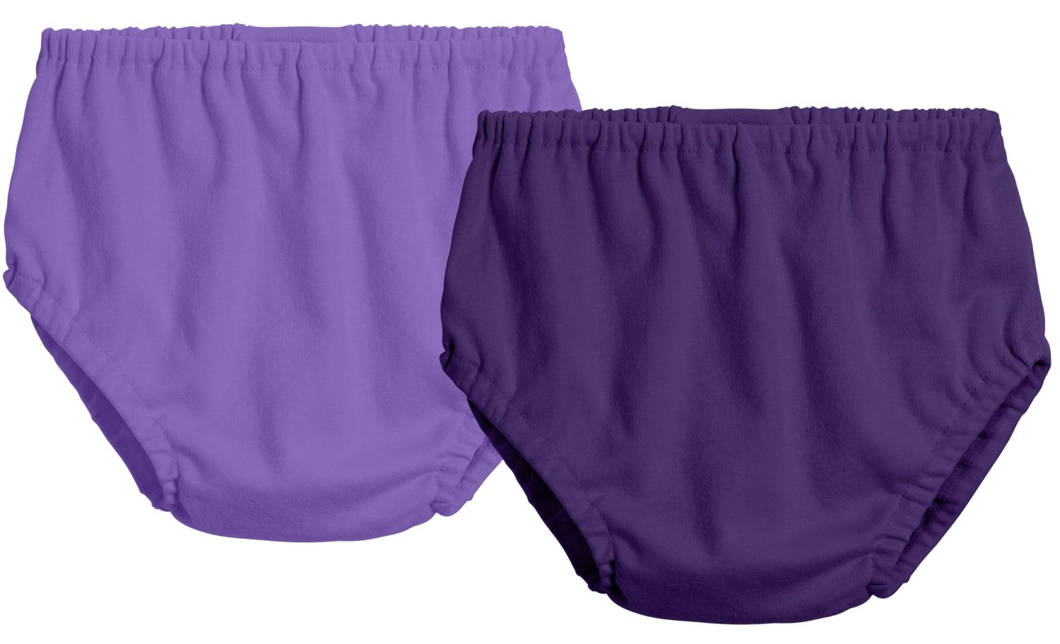 City Threads 2-Pack Baby Girls' and Baby Boys' Unisex Diaper Covers Bloomers Soft Cotton, Deep Purple/Purple, 4T