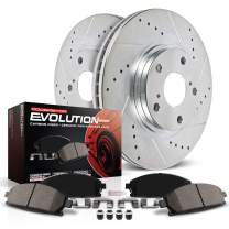 Power Stop K6739 Front Brake Kit with Drilled/Slotted Brake Rotors and Z23 Evolution Ceramic Brake Pads