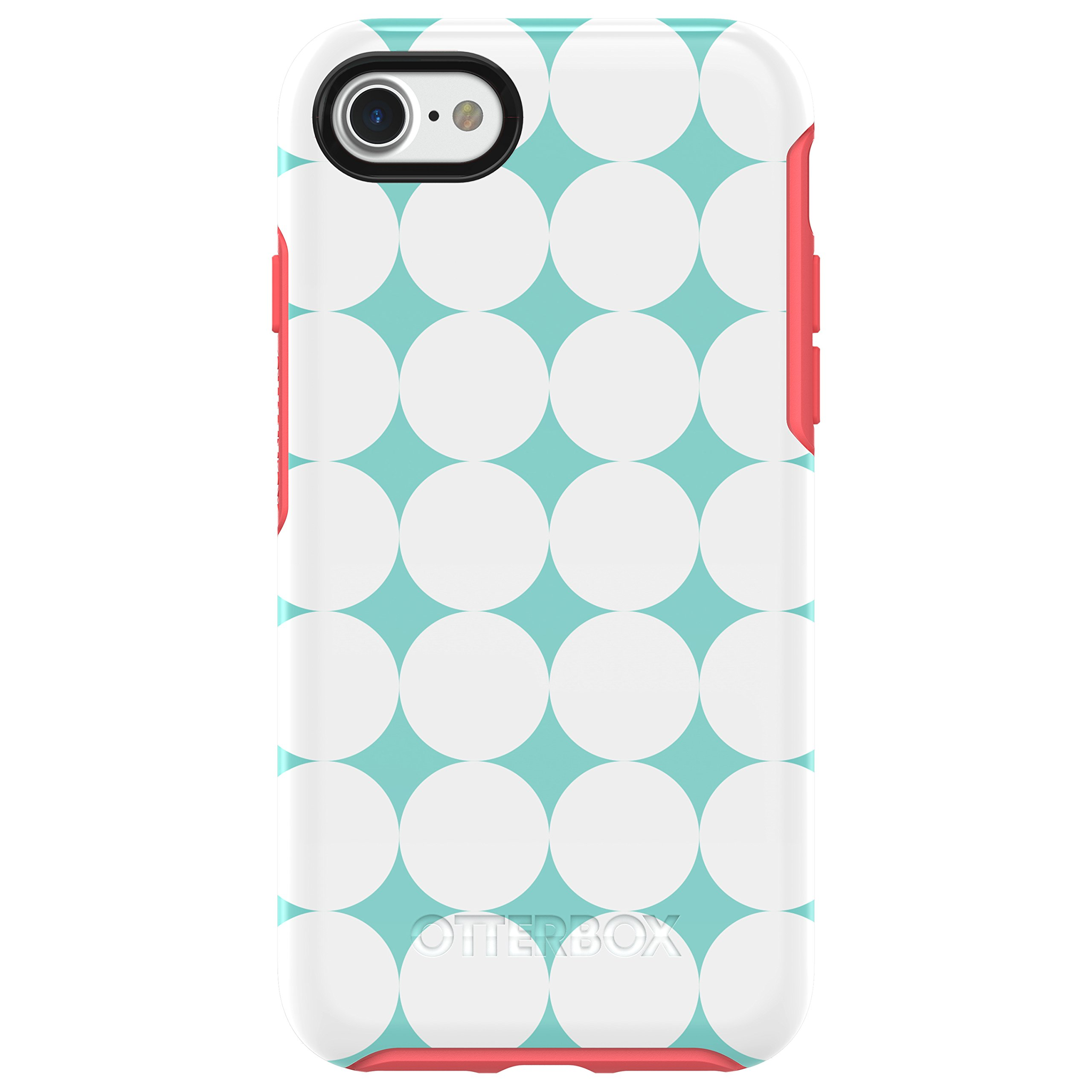 OtterBox SYMMETRY SERIES Case for iPhone 8 & iPhone 7 (NOT Plus) - Retail Packaging - HALFTONE (AQUA MINT/CANDY PINK/HALFTONE GRAPHIC)