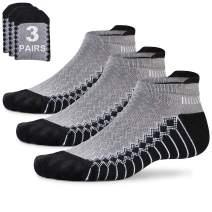 Mens Running Socks Low Cut Man Jogging Socks Short Arch Support Athletic Ankle Socks Non Slip Moisture Wicking