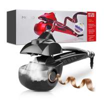 MKBOO Hair Curler, Automatic Hair Steam Curler Ceramic Curling Wand Salon Professional Rotating Styling Steamer Spray Curl Spiral Machine Tool