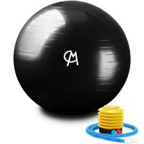CHICMODA Exercise Ball (Multiple Sizes) Extra Thick Yoga Ball Chair, Anti-Burst Heavy Duty Stability Ball Supports 2200lbs, Birthing Ball with Quick Pump (Office & Home & Gym) …