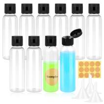 Small Plastic Bottles for Liquids, Paxcoo 2 oz Plastic Travel Squeeze Bottles BPA Free Empty Lotion Bottles TSA Approved Toiletry Containers for Shampoo Lotion