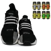 SENT CHARM No Tie Shoelaces for Adults/Kids Elastic Shoe Laces for Sneakers No Tie Adult Tieless Shoelaces Kids Shoe Laces Laceless Rubber Silicone Shoelaces for Running Sports