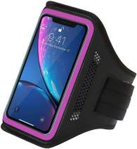LOVPHONE iPhone 11 Pro/iPhone 11/iPhone XR Armband, Sport Running Workout Exercise Cell Phone Case with Holder & Card Slot,Fingerprint Sensor Access Supported and Sweat-Proof (Rose)