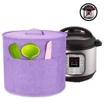 Luxja Dust Cover for 8 Quart Instant Pot, Cloth Cover with Pockets for Instant Pot (8 Quart) and Extra Accessories, Lavender (Large)