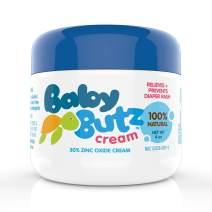 Baby Butz Diaper Rash Cream,100% Natural, Zinc Oxide Barrier Paste, Prevents, Relieves and Treats Diaper Rash, 4 oz