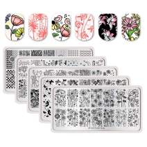 BORN PRETTY Nail Art Nail Stamping Plates Spring Flower Strip Mandala Butterfly Spring Nature manicuring Print Image Templates
