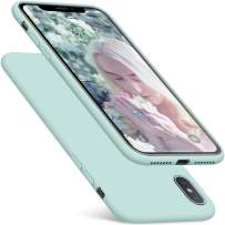 DTTO iPhone Xs Max Case, 7 Colors Silicone Case [Romance Series] Slim Fit Cover with Hybrid Protection for Apple iPhone 10s Max 6.5 Inch (2018 Released) - Mint Green