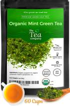 Organic Mint Green Tea - 240 cups of Moroccan Mint Green Tea with Spearmint and Peppermint for Digestion - Loose Leaf by The Tea Company 16oz