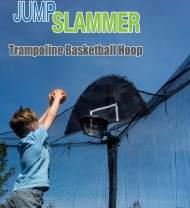 Jump Slammer Trampoline Basketball Hoop | Easy Install | Foam Ball Included | [Lifetime Parts Warranty]