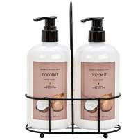 Green Canyon Spa Coconut Body Wash Pack of 2 x16.4oz Christmas Gift Set for Women, Family - Enriched with Natural Shea Butter Shower Gel Nourishing & Gently Moisturizing for Dry & Sensitive Skin