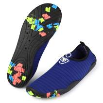 bridawn Adults Water Shoes Swim Shoes Barefoot Quick-Dry Aqua Socks for Beach Pool Surfing