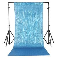 TRLYC 3Ft7Ft Turquoise Sequin Photography Backdrop For Wedding/Party